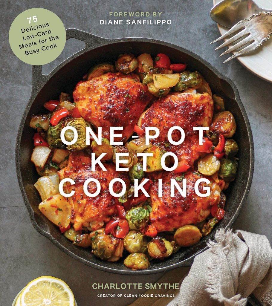 One pot keto cooking cookbook cover page.